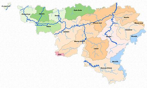 Carte des Fédérations de pêche agréées de Wallonie