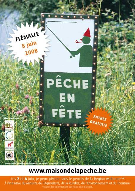 Affiche de Pêche en Fête le 8 juin 2008 à Flémalle