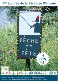 Affiche de la 1ère Journée de la pêche en Wallonie