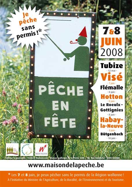 Affiche de la 4ème édition de pêche en fête