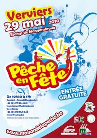 Affiche de promotion de pêche en fête 2010 à Verviers