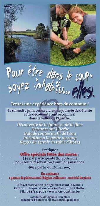 Folder de présentation des initiations de pêche pour les femmes