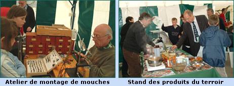 Activités organisés lors de la fête de la pêche 2005 à Jodoigne - Montage de mouches, produits du terroir