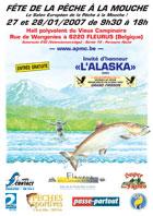 Affiche Fête de la pêche à la mouche de Fleurus