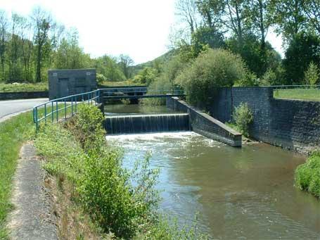 Barrage sur la rivière Eau d'Heure