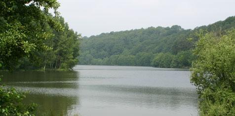 La zone d'eaux calmes