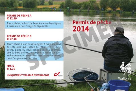 Permis de pêche de la Région wallonne