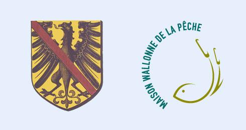 Logos de la Ville de Fontaine-l'Evêque et de la Maison wallonne de la pêche