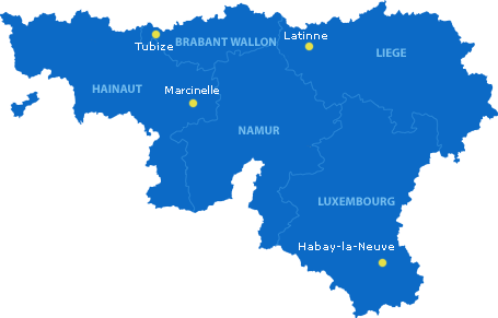 Carte des sites de Pêche en fête 2013