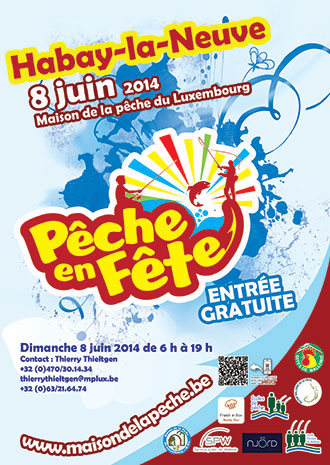 Affiche de l'événement Pêche en Fête 2014 à Habay-la-Neuve