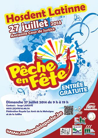 Affiche de l'événement Pêche en Fête 2014 à Hosdent