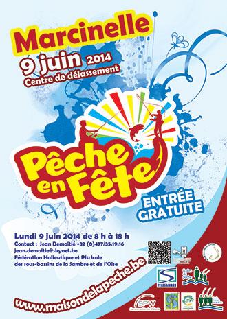 Affiche de l'événement Pêche en Fête 2014 à Marcinelle