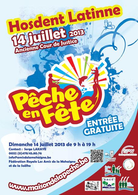 Affiche promotionnelle de l'édition 2013 de Pêche en fête à Latinne