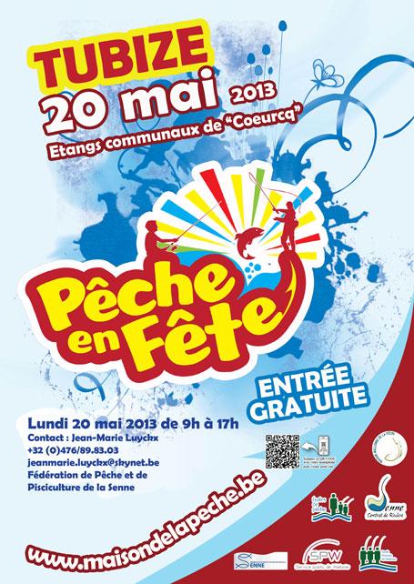 Affiche promotionnelle de l'édition 2013 de Pêche en fête à Tubize