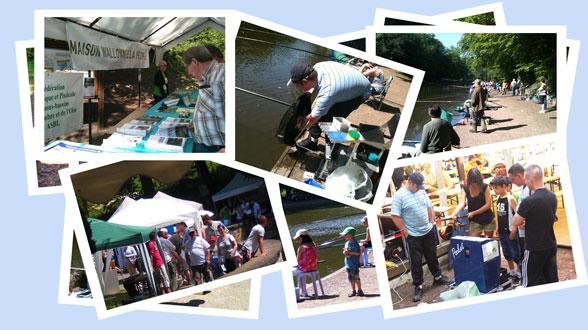 Compilation de photos de l'édition 2012 de Pêche en fête à Marcinelle