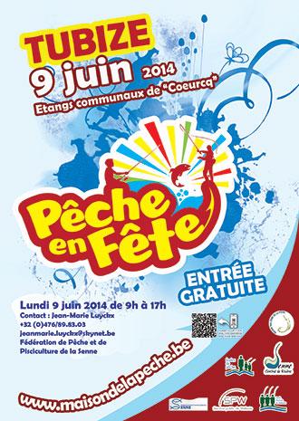 Affiche de l'événement Pêche en Fête 2014 à Tubize