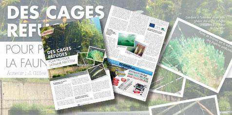Article paru dans le Pêcheur belge de mai 2014 sur les cages refuges