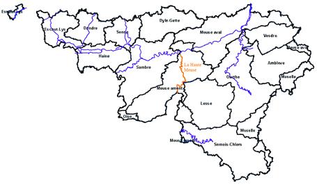 Carte Belgique Fleuves Et Rivieres.Maison Wallonne De La Peche