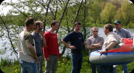 Photographie de l'atelier de pêche à la mouche à LLN en 2008